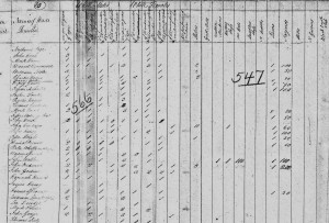 1810 United States Census Union Co. SC Jeremiah Foster