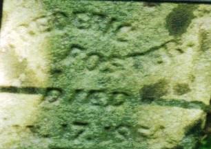 Inscription on Frederick Foster's headstone